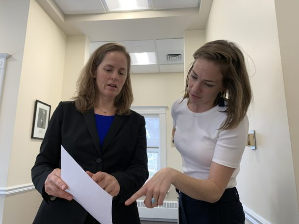 Photo of two lawyers at an expungement clinic